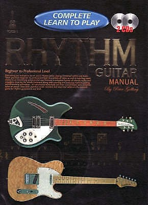 Complete Learn To Play Rhythm Guitar Manual Book & CD by Peter Gelling B44 S102