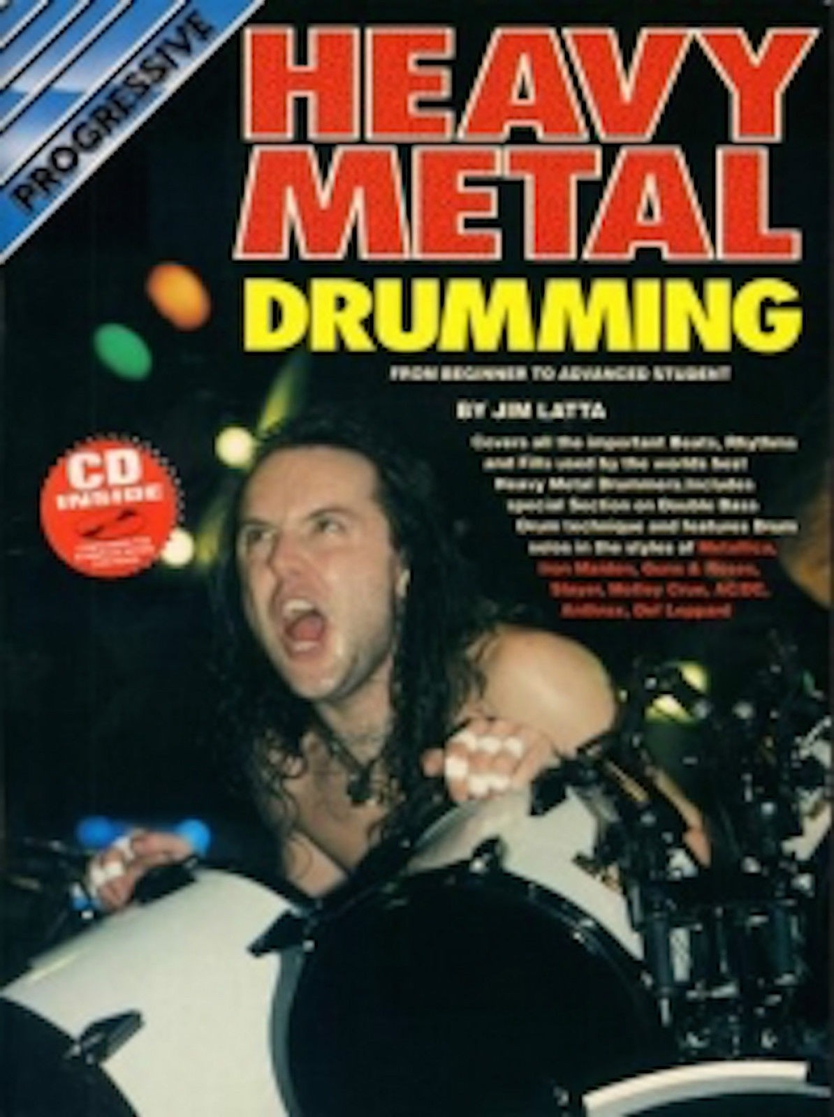 Progressive Heavy Metal Drumming Tutor Book Play Along CD Music Jim Latta B56