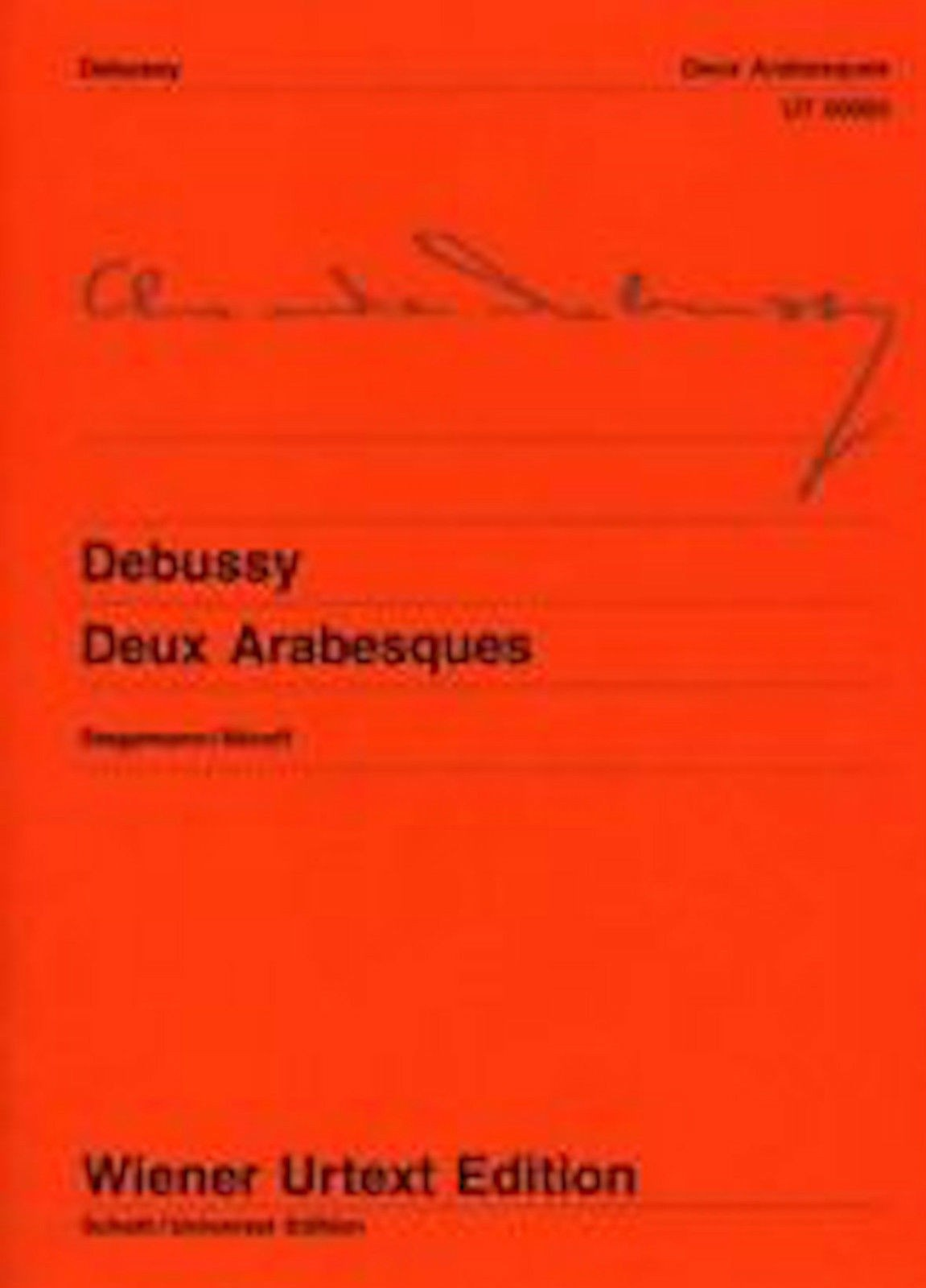 Deux Arabesques Piano Solo Debussy Wiener Urtext Edition Music Book B56 S95