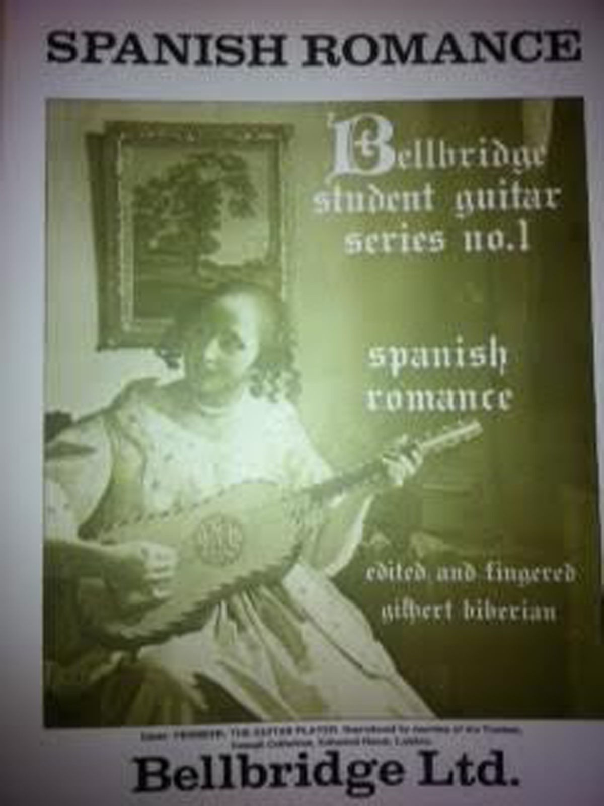 Spanish Romance Classical Guitar Solo Sheet Music Intermediate Belbridge S100