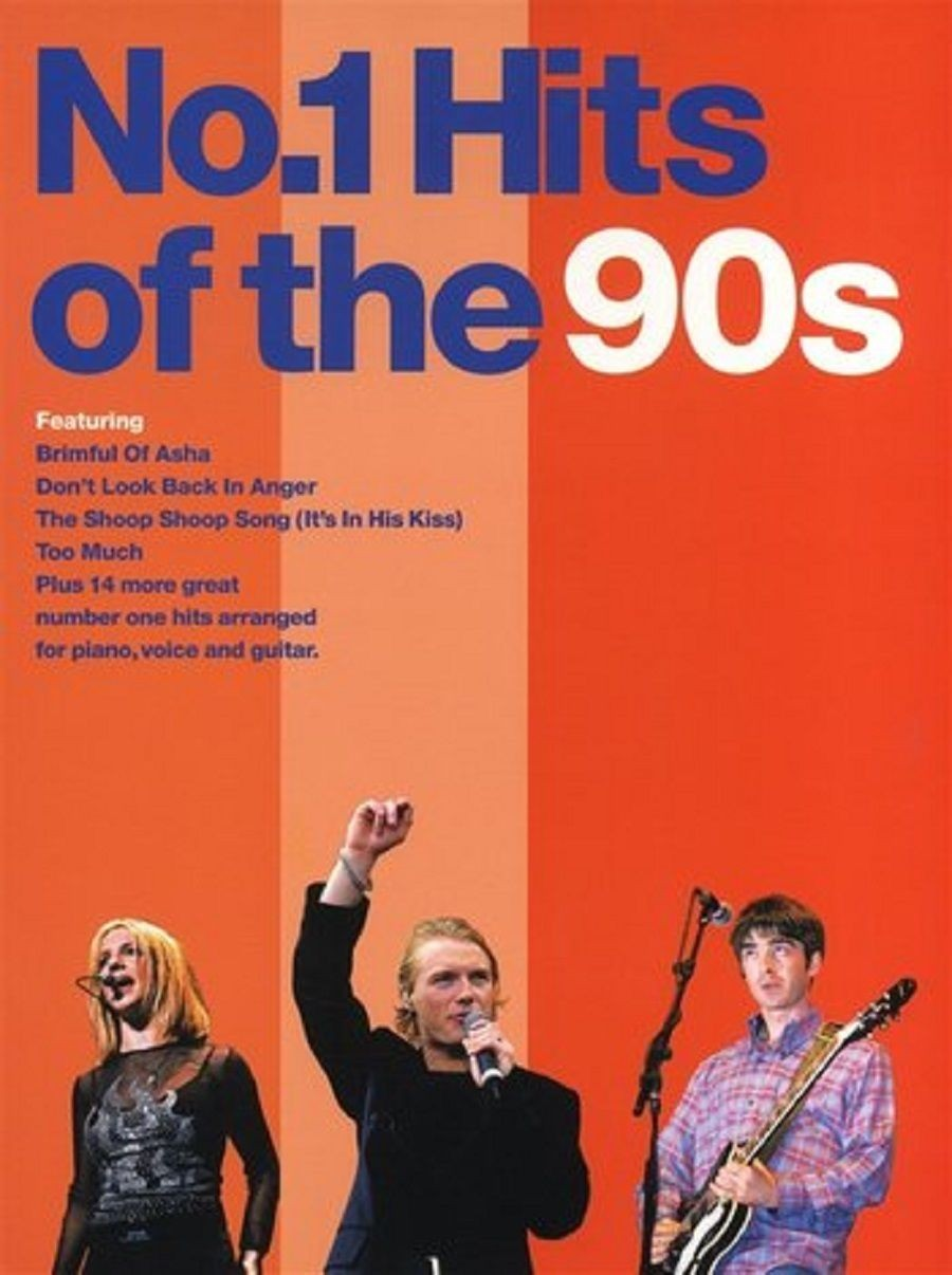No.1 Hits of the 90s Songbook Sheet Music Piano Vocal Guitar Chords Lyrics S27