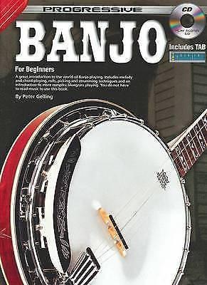 Progressive Banjo For Beginners Tutor Book & CD Peter Gelling Includes TAB S36