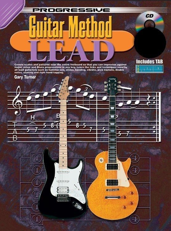 Progressive Guitar Method Lead Instructional Music Book Learn Electric CD S56