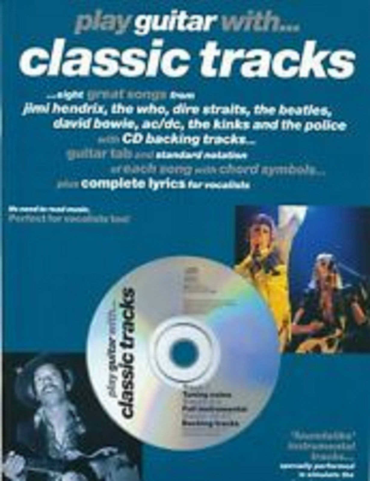 Play Guitar With ... Classic Tracks Soundalike Playalong Book CD Great Songs B21