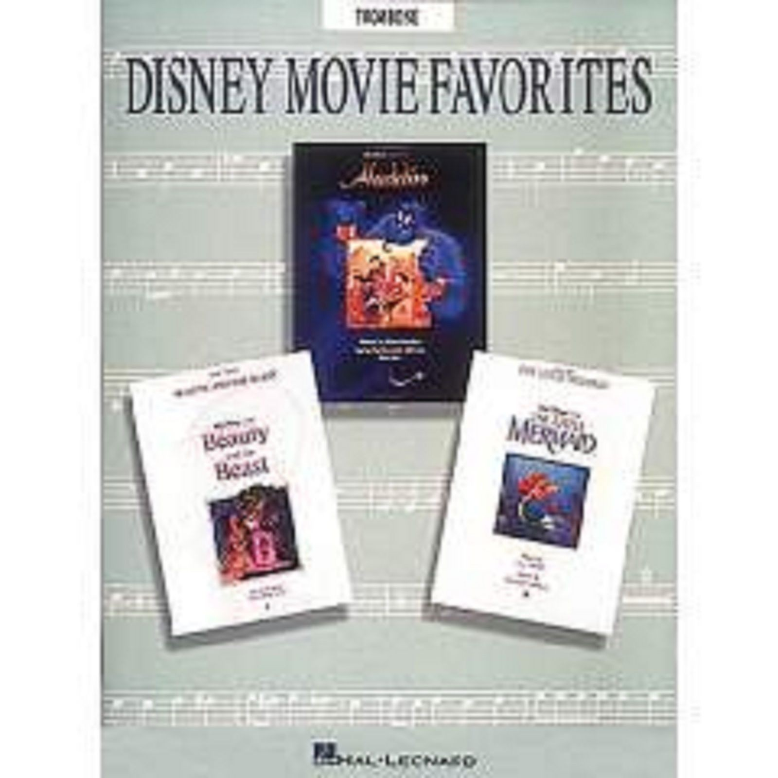 Disney Movie Favorites Solo Trombone Sheet Music Book Easy Pieces Grade 1-3 S59