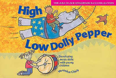 High Low Dolly Pepper Music Skills Young Children Book & CD Veronica Clark S78