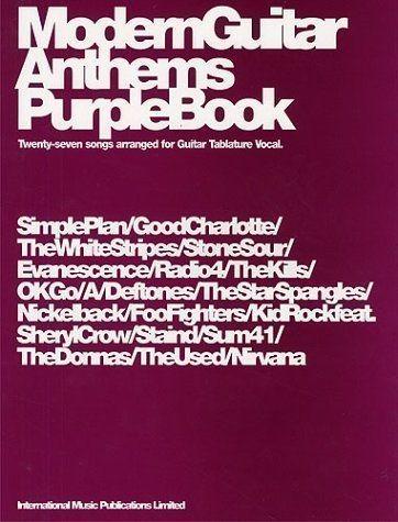 Modern Guitar Anthems Purple Book Guitar Tab Songbook Nirvana Nickleback S82