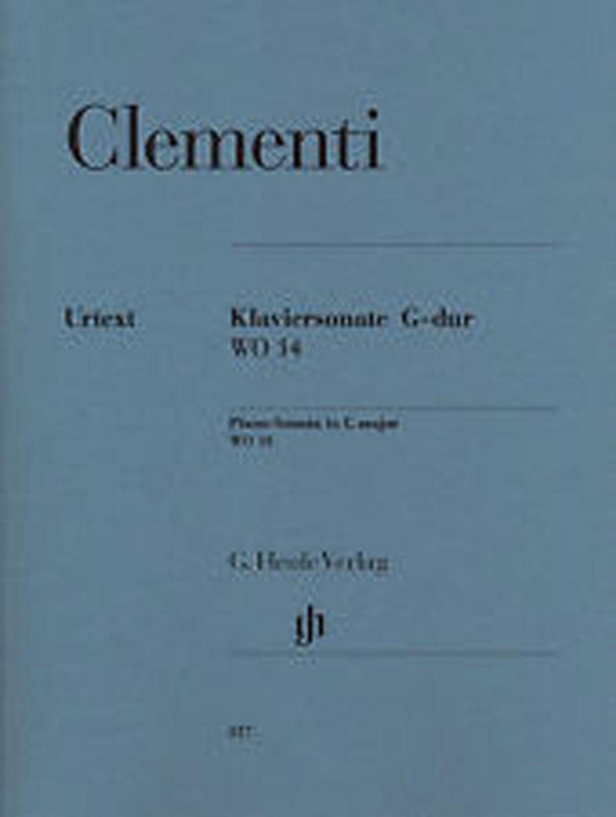 Clementi Piano Solo Sonata in G Major WO 14 Urtext Sheet Music Book B79 S102