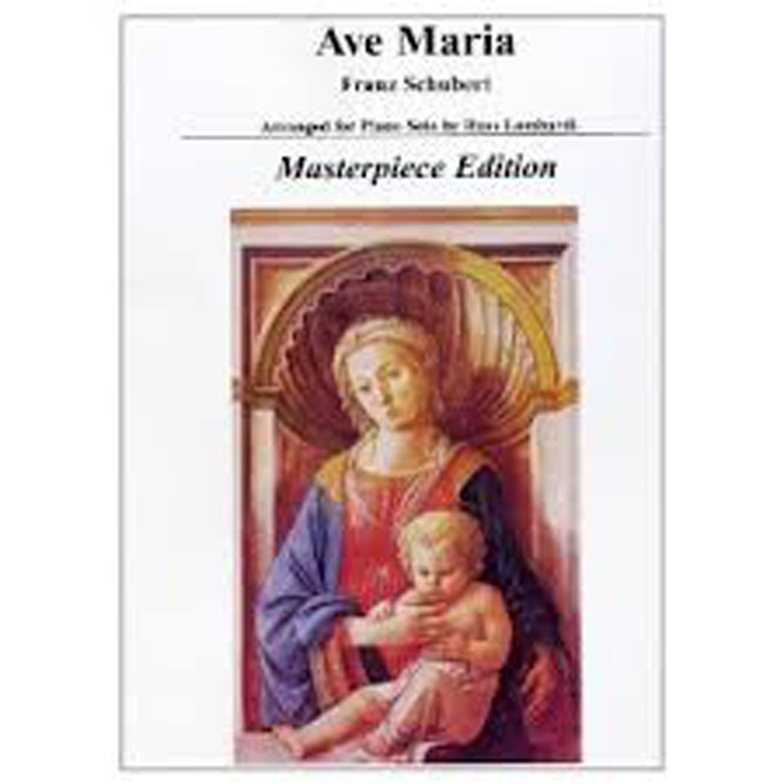 Ave Maria Solo Piano Sheet Music Masterpiece Edition Schubert Arr Lombardi B40