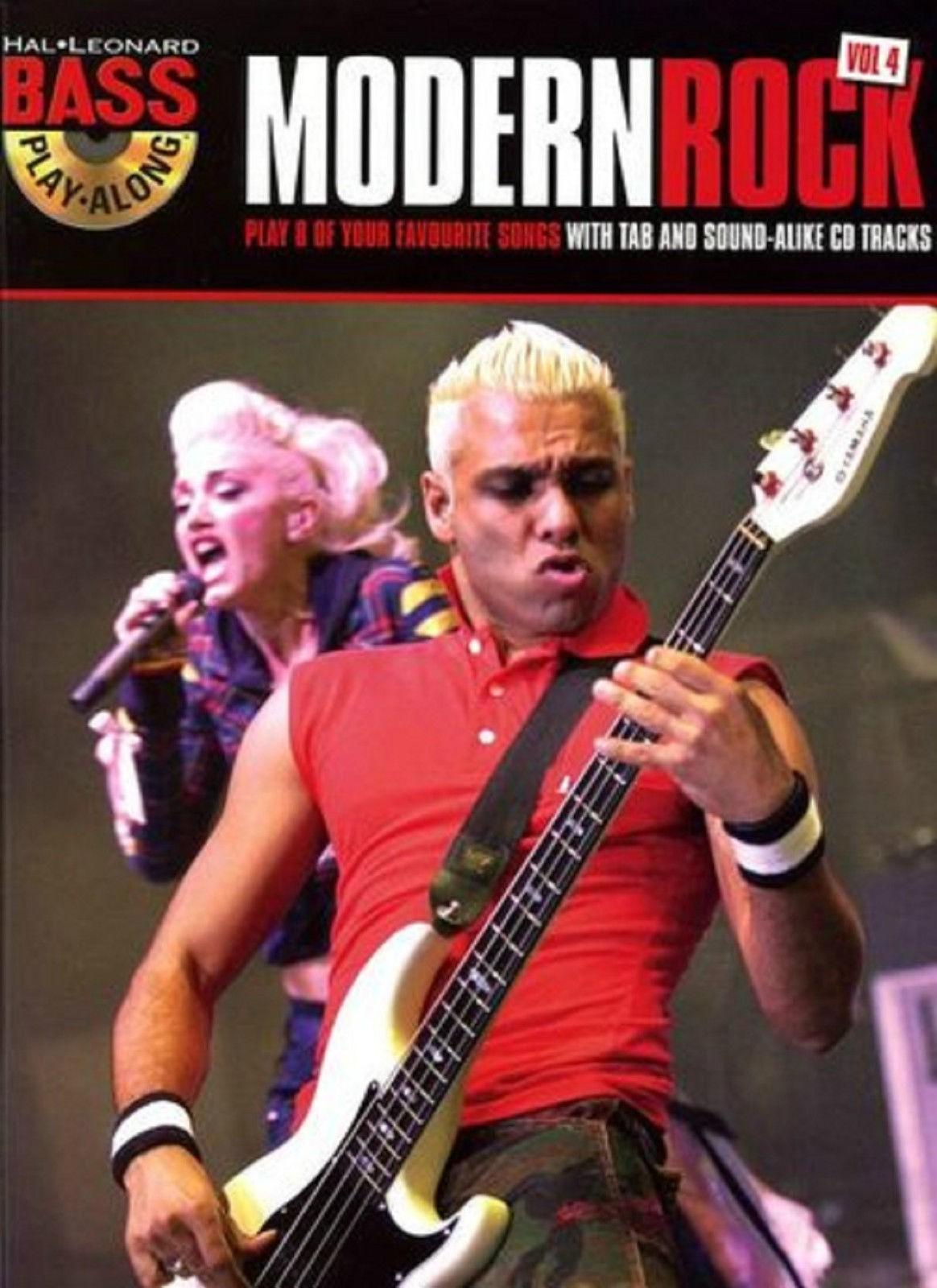 Bass Play Along Modern Rock Vol 4 Songbook CD Guitar Tab Weezer Pearl Jam S95