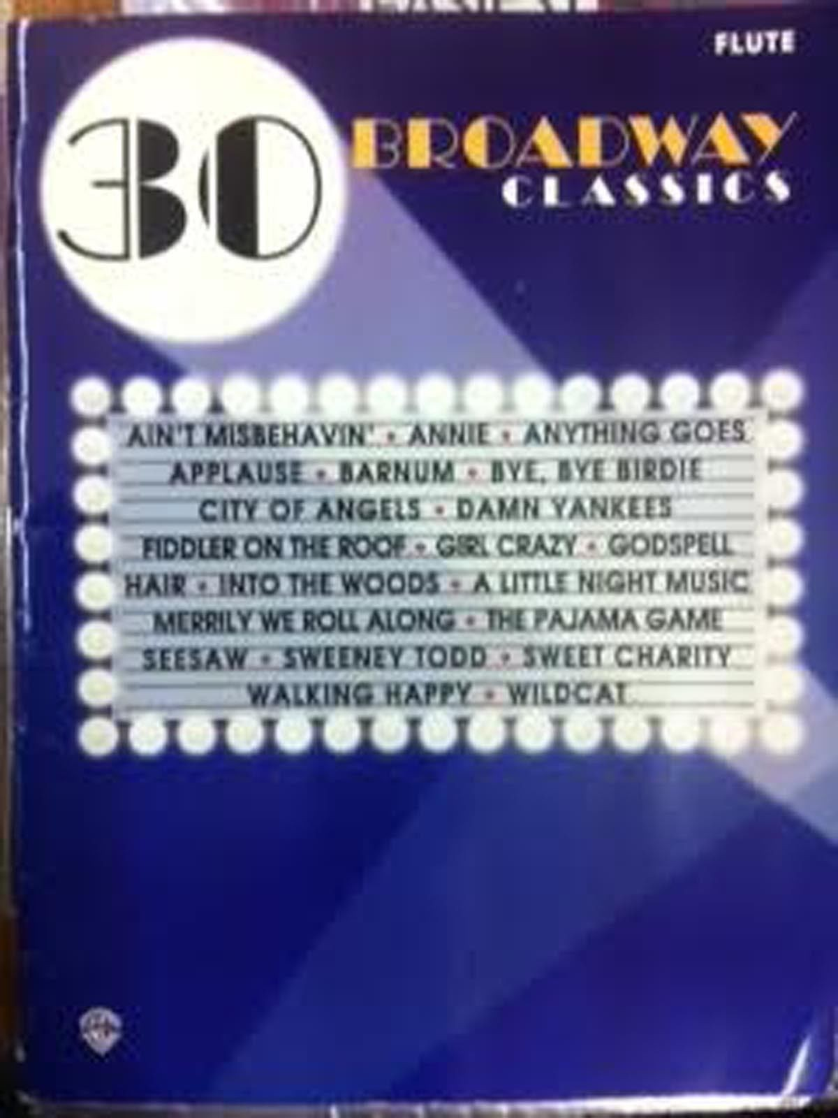 30 Broadway Classics Flute Book Sheet Music Songbook Musicals Shows Easy S96