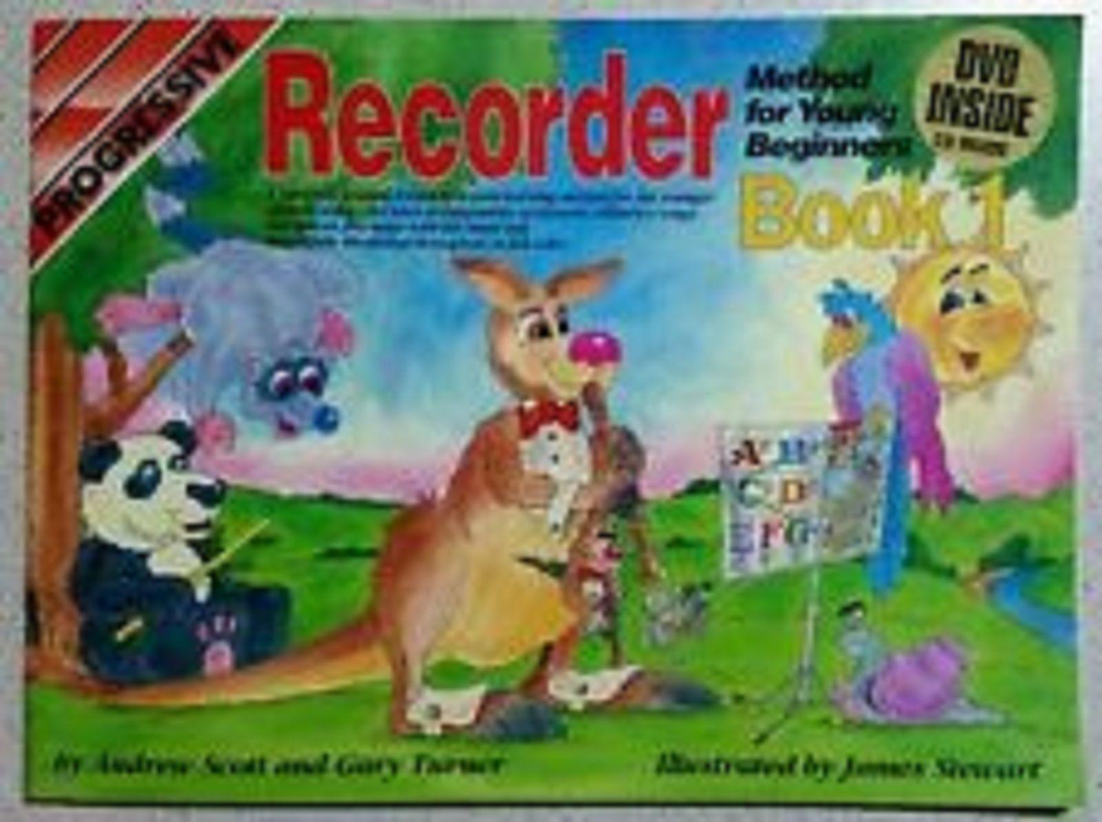 Progressive Recorder Book 1 Beginner Sheet Music CD DVD Illustrated S104