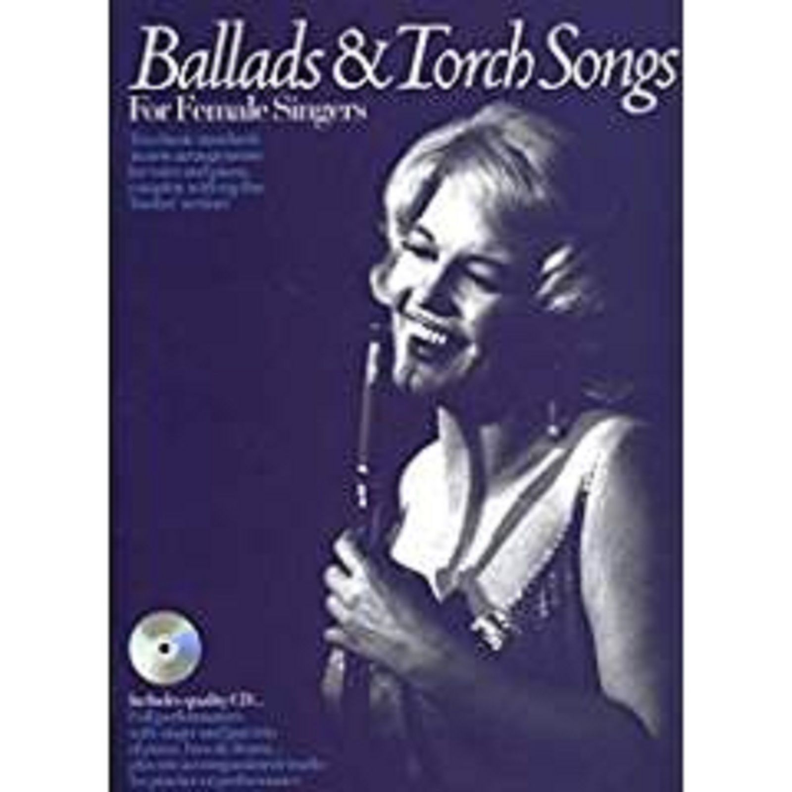 Ballads and Torch Songs For Female Singers Voice Piano Sheet Music Book CD S158