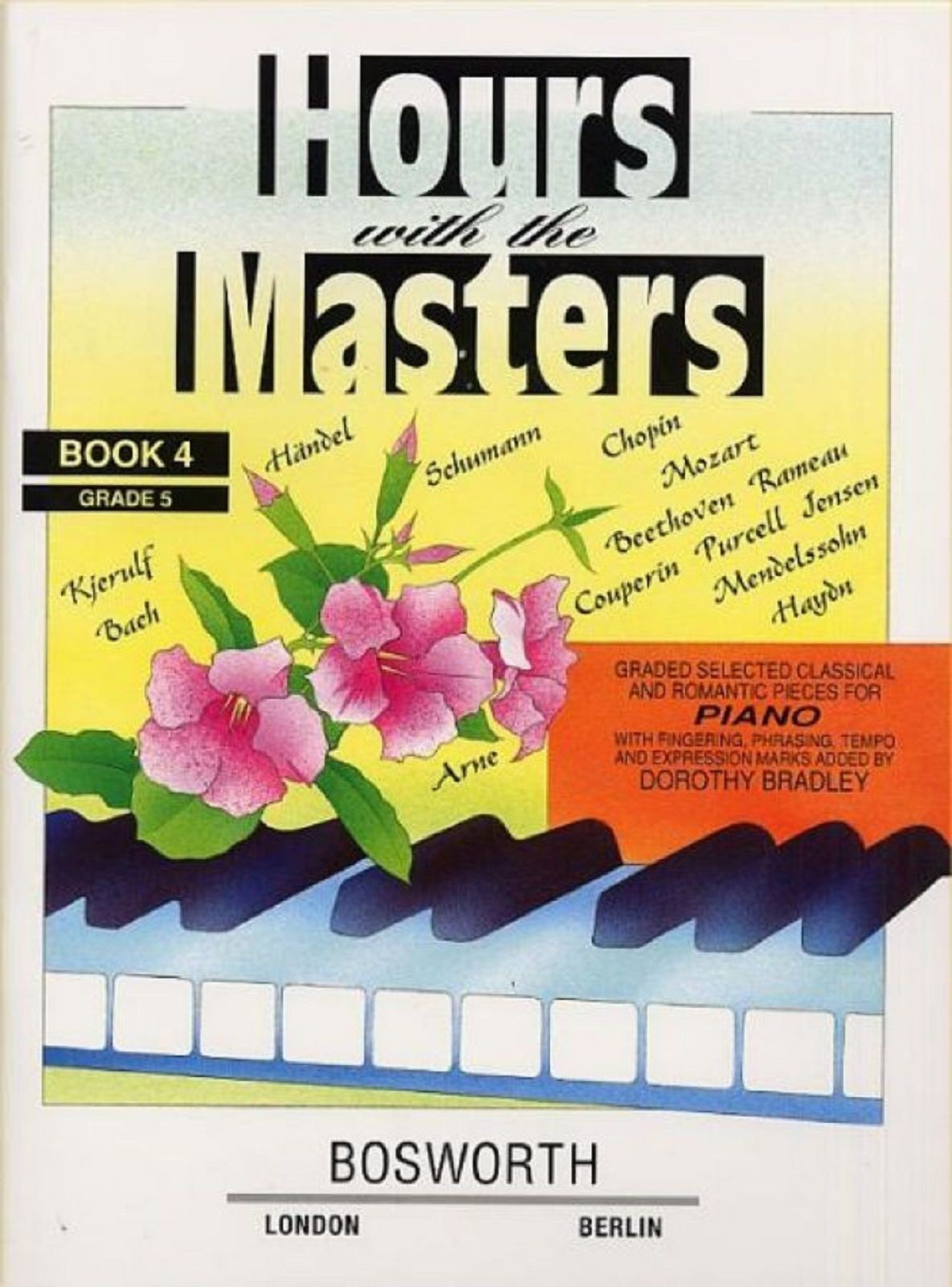 Hours With The Masters Book 4 Grade 5 Sheet Music Book Piano Bradley S163