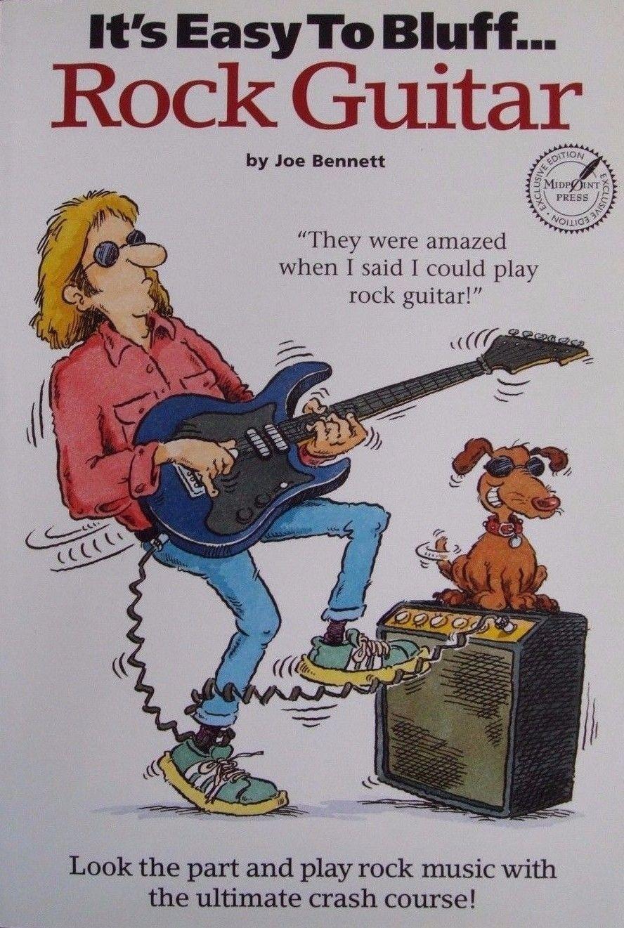 It's Easy to Bluff Rock Guitar Tutor Book Learn To Play Electric Joe Bennett S42