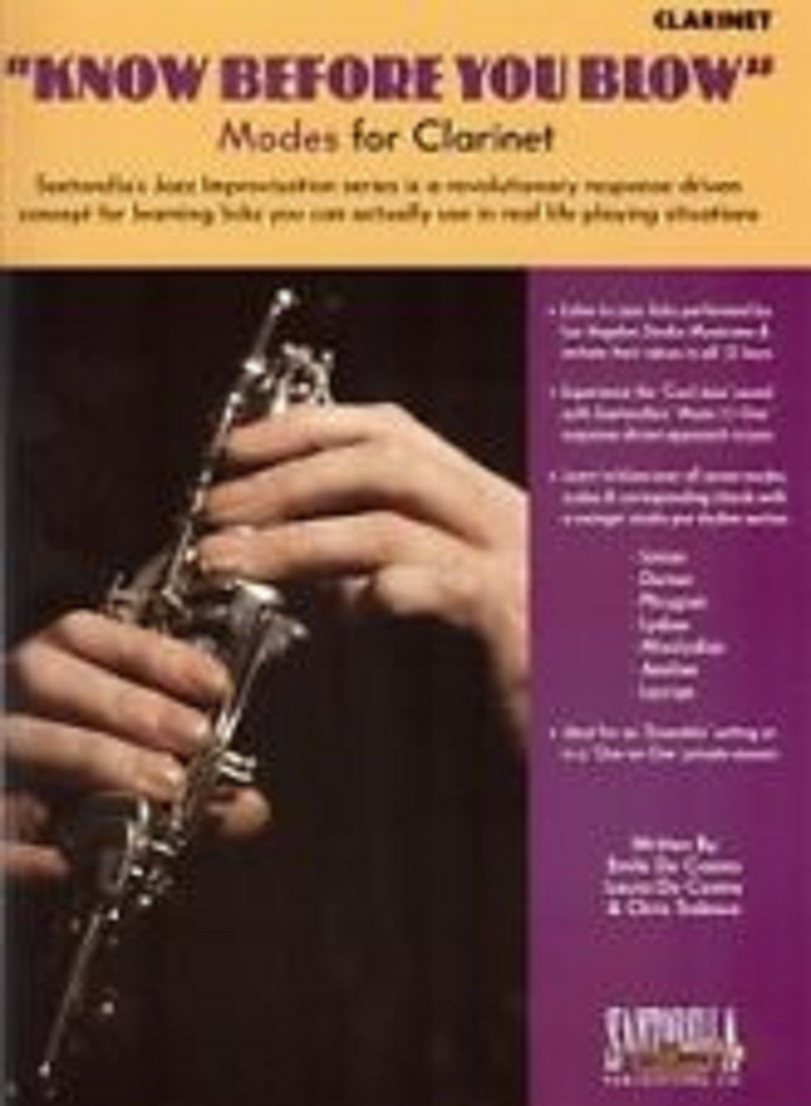 Know Before You Blow Modes for Clarinet Book CD Jazz Improvisation Series S126
