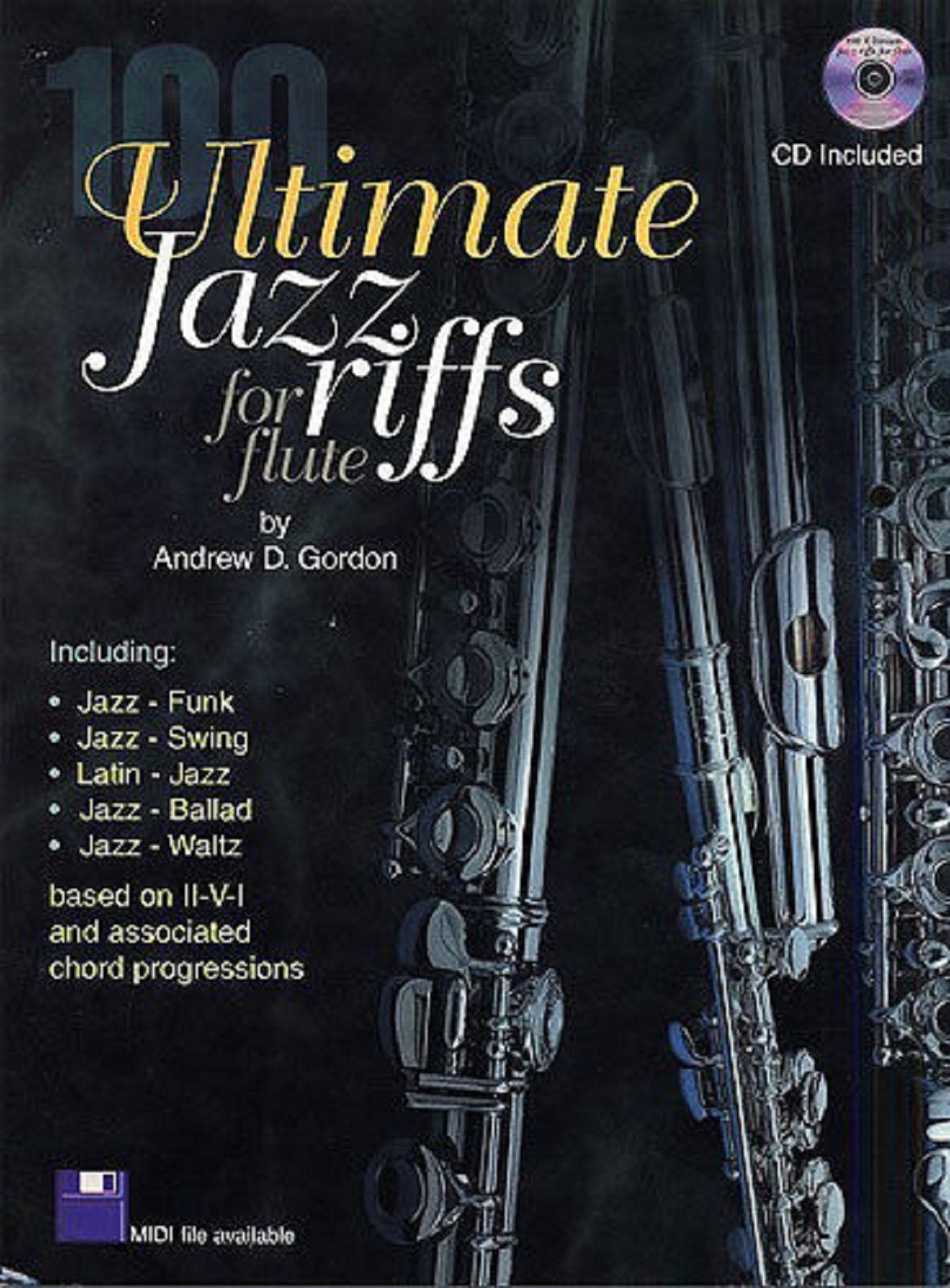 100 Ultimate Jazz Riffs Flute Book CD Funk Swing Latin Ballad Improvising S127