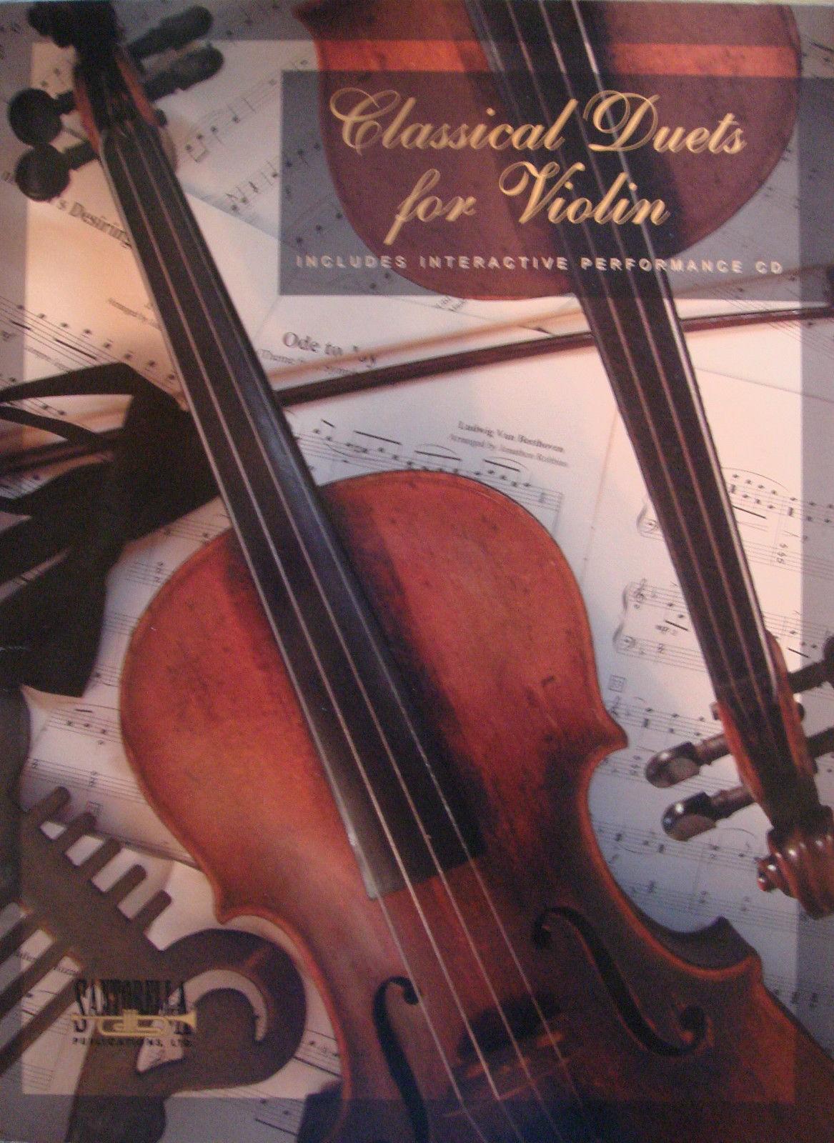 Classical Duets For Violin CD Ensemble Sheet Music Book Arr Jonathon Robbins B23