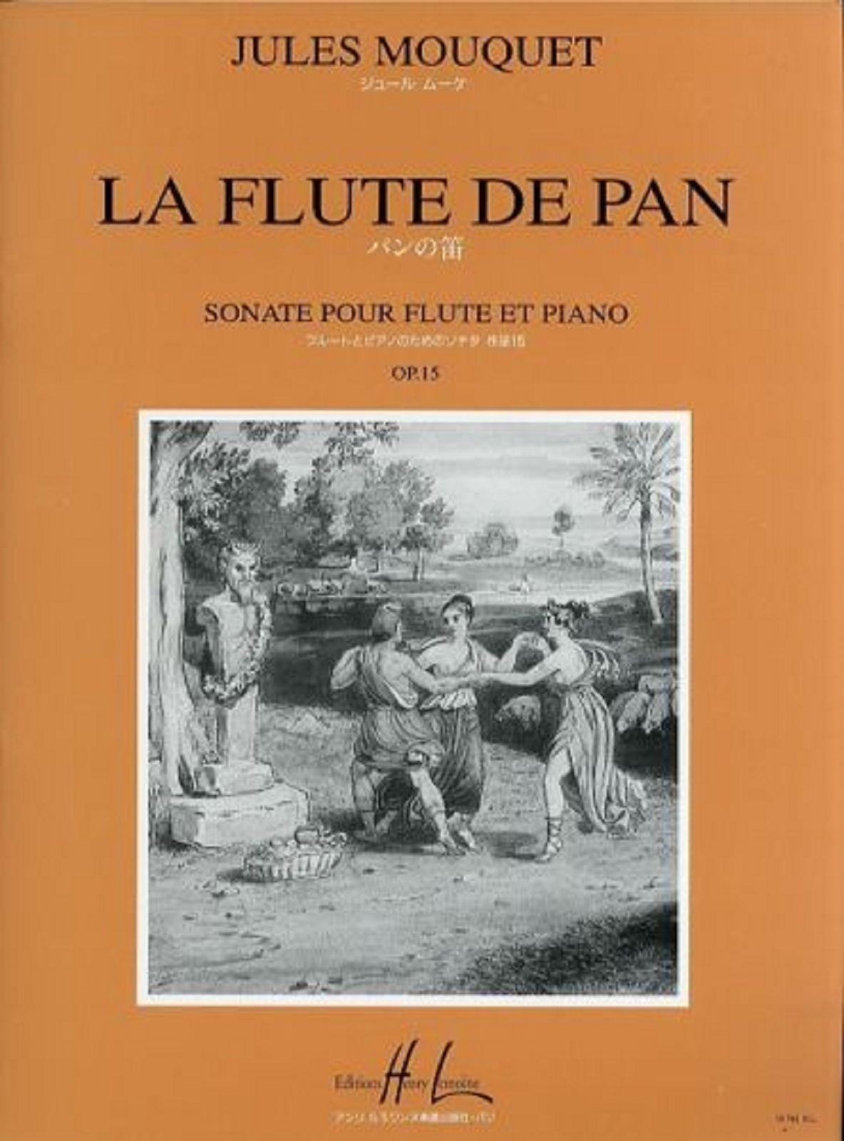 Jules Mouquet La Flûte De Pan Op 15 Sonata for Flute & Piano Solo Book S123