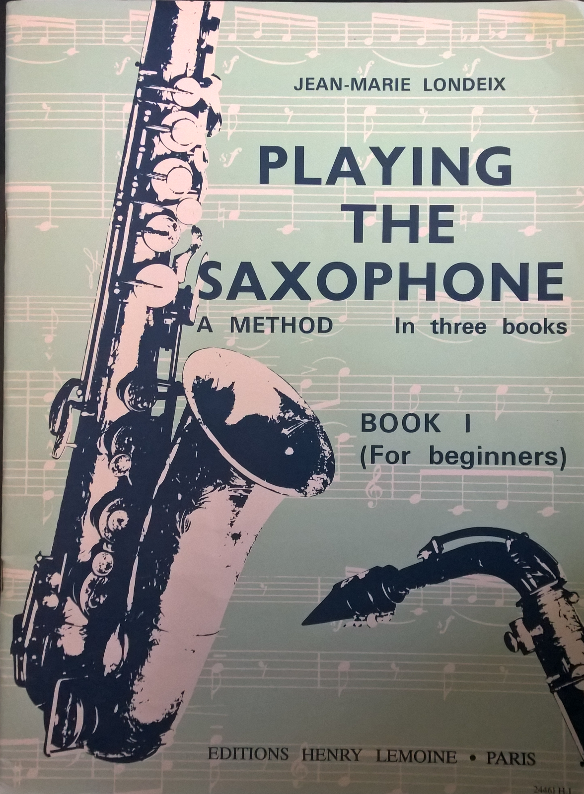 Playing The Saxophone Book 1 Beginners Jean-Marie Londeix Learn Play Tutor S106