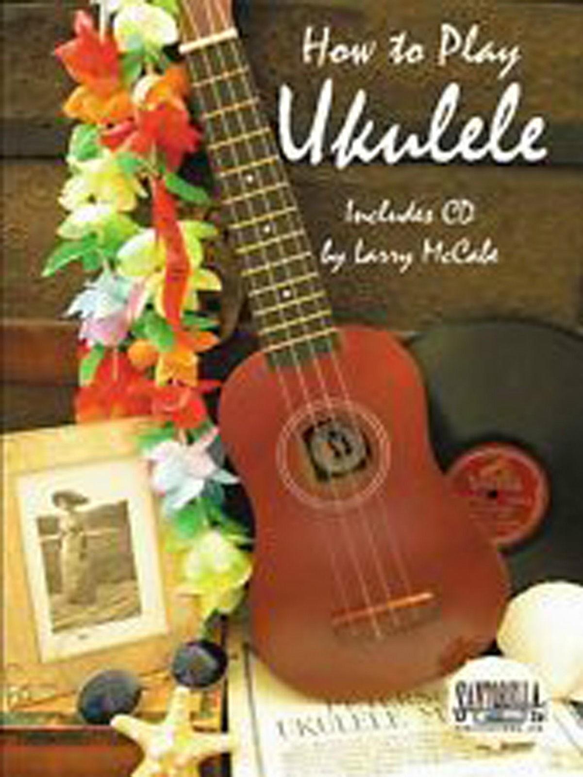 How To Play Ukulele Larry McCabe Beginner Tutor Book & CD B52