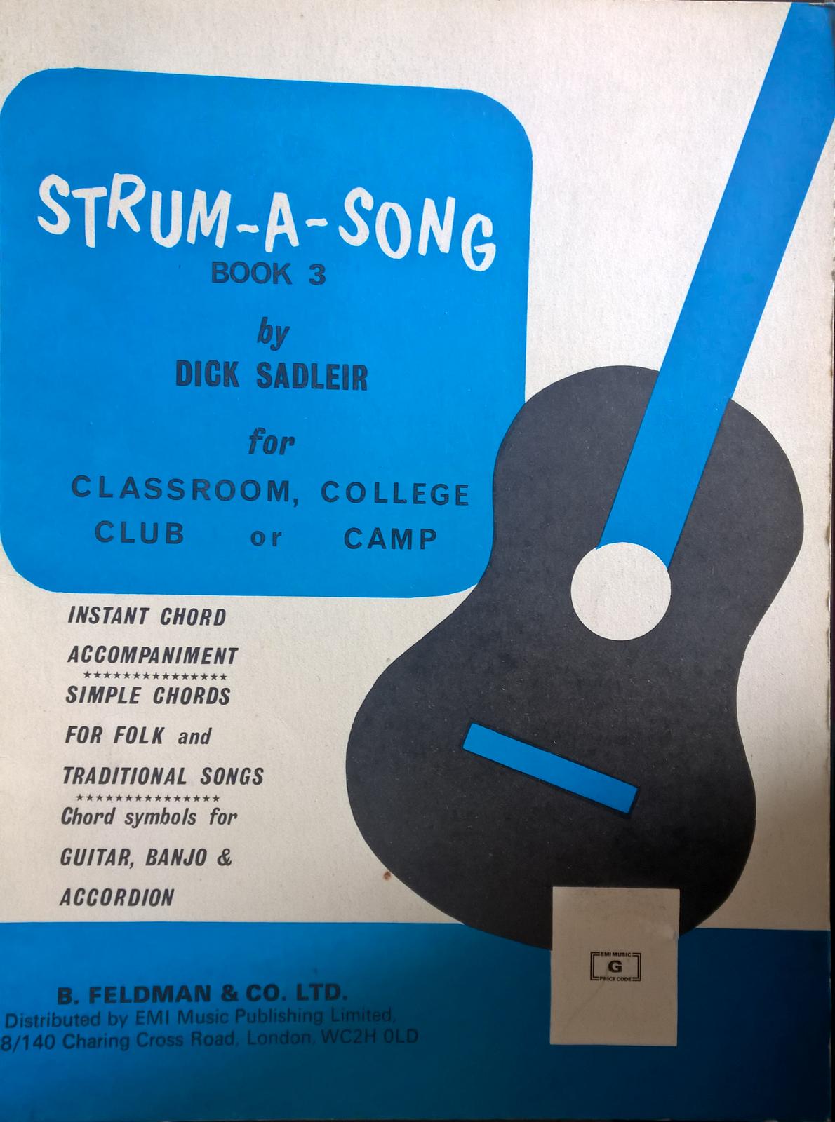 Strum-A-Song Book 3 Dick Saleir Traditional Folk Guitar Banjo Easy Chords S114