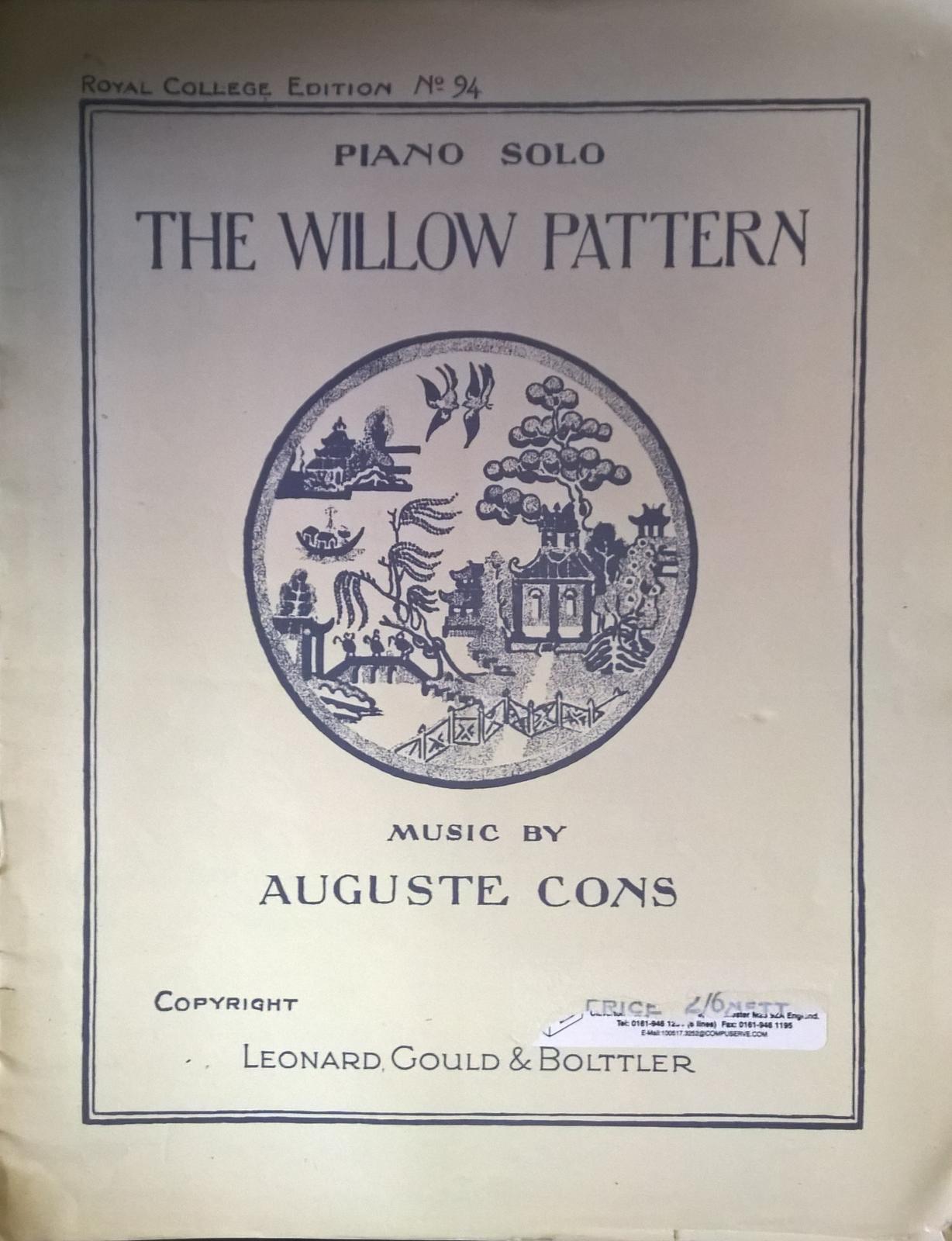 The Willow Pattern Suite de Ballet No 94 Piano Solo Auguste Cons Book S114