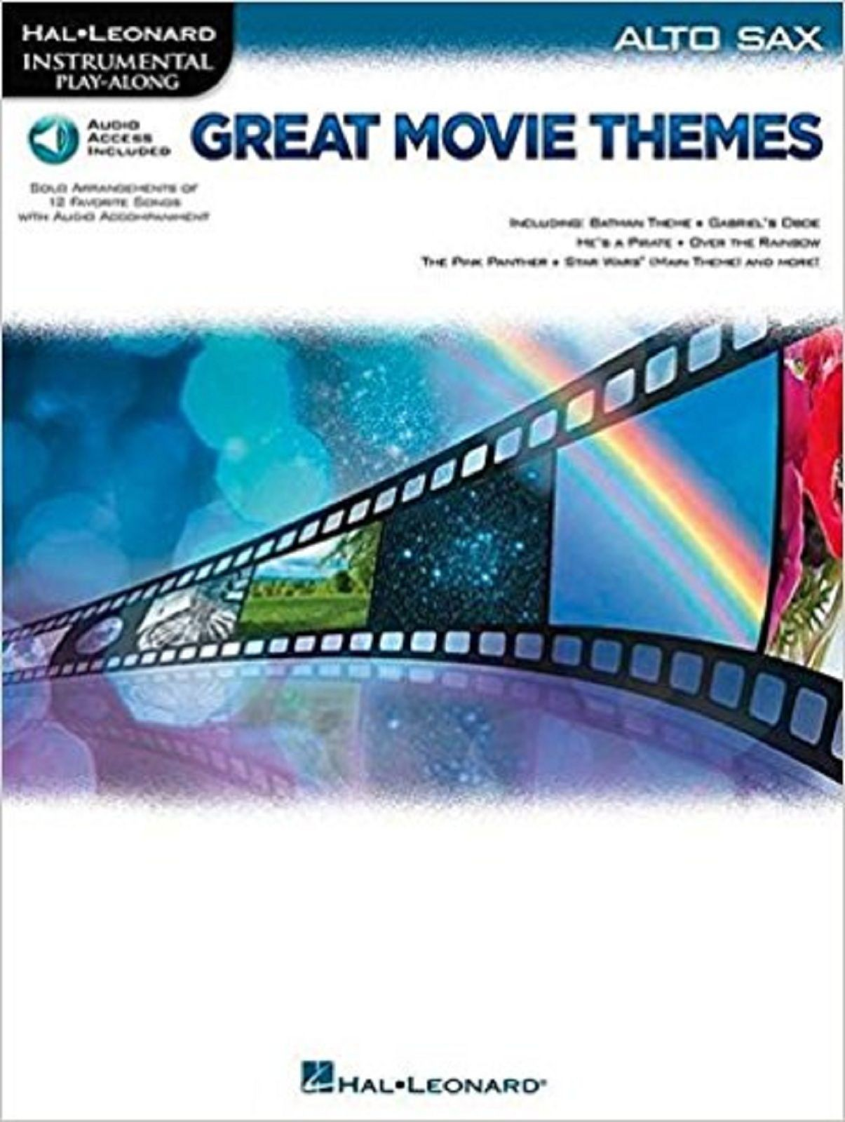 Great Movie Themes Alto Sax Instrumental Access Audio Play-Along Music Book S132
