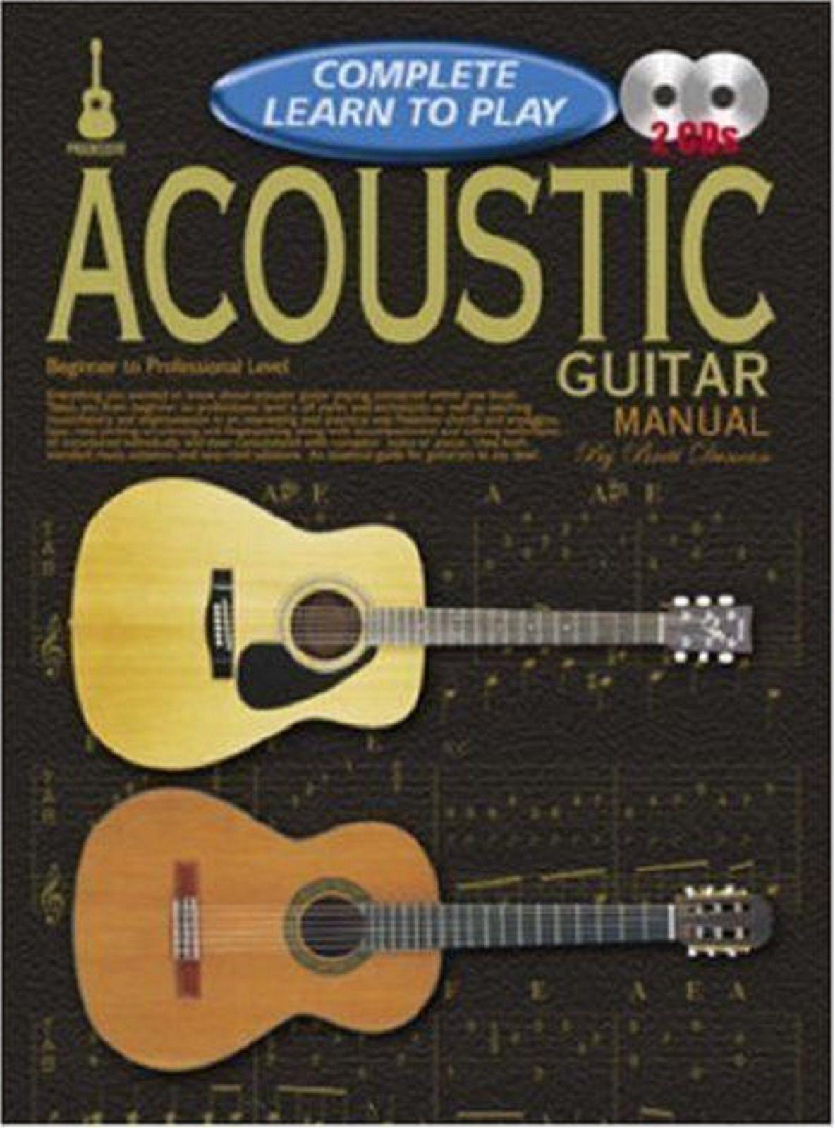 Acoustic Guitar Manual Complete Learn to Play Beginner Professional CD Book S115