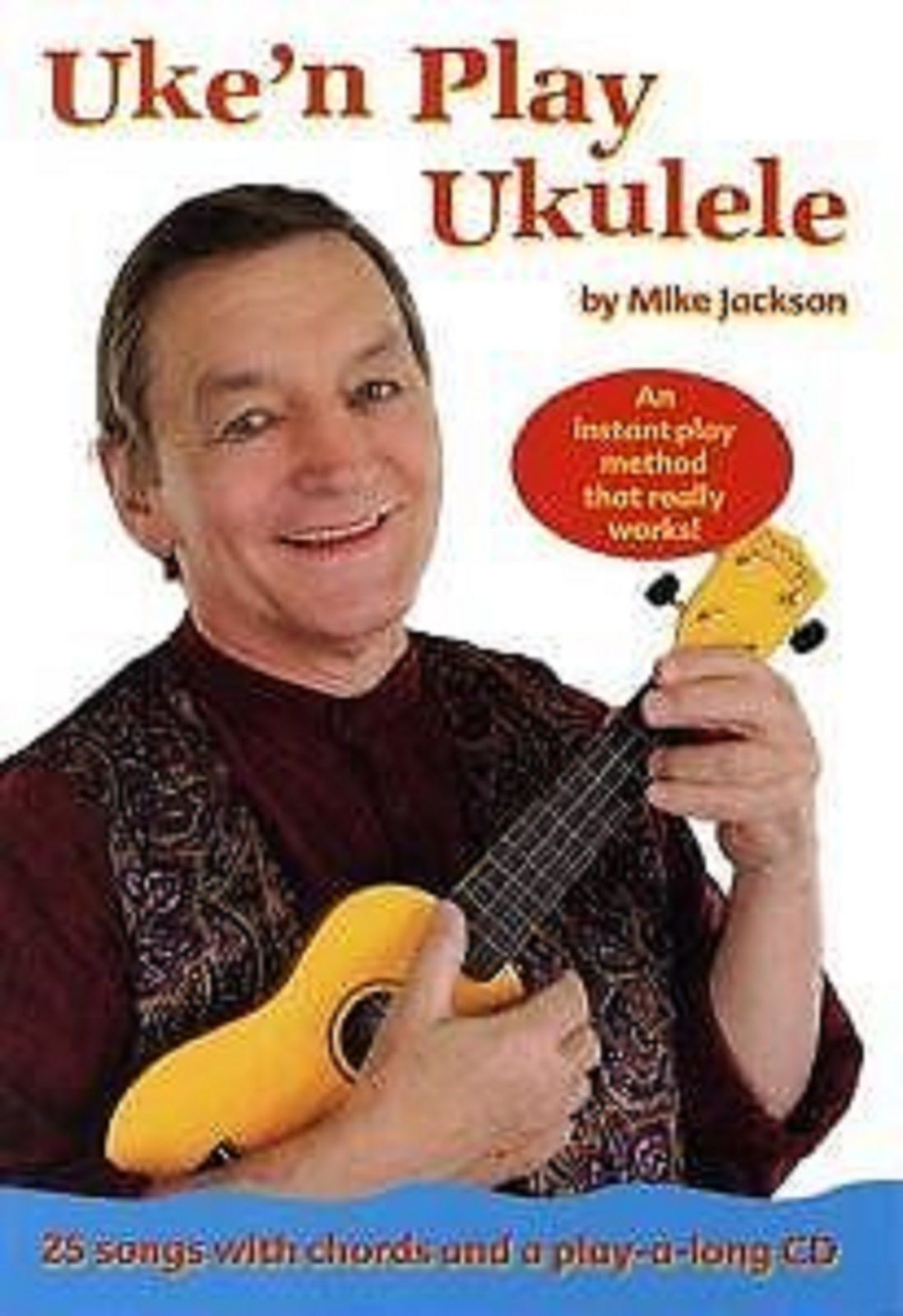 Uke'n Play Ukulele Instant Play Method Tutor Chords Lyrics Book CD S70