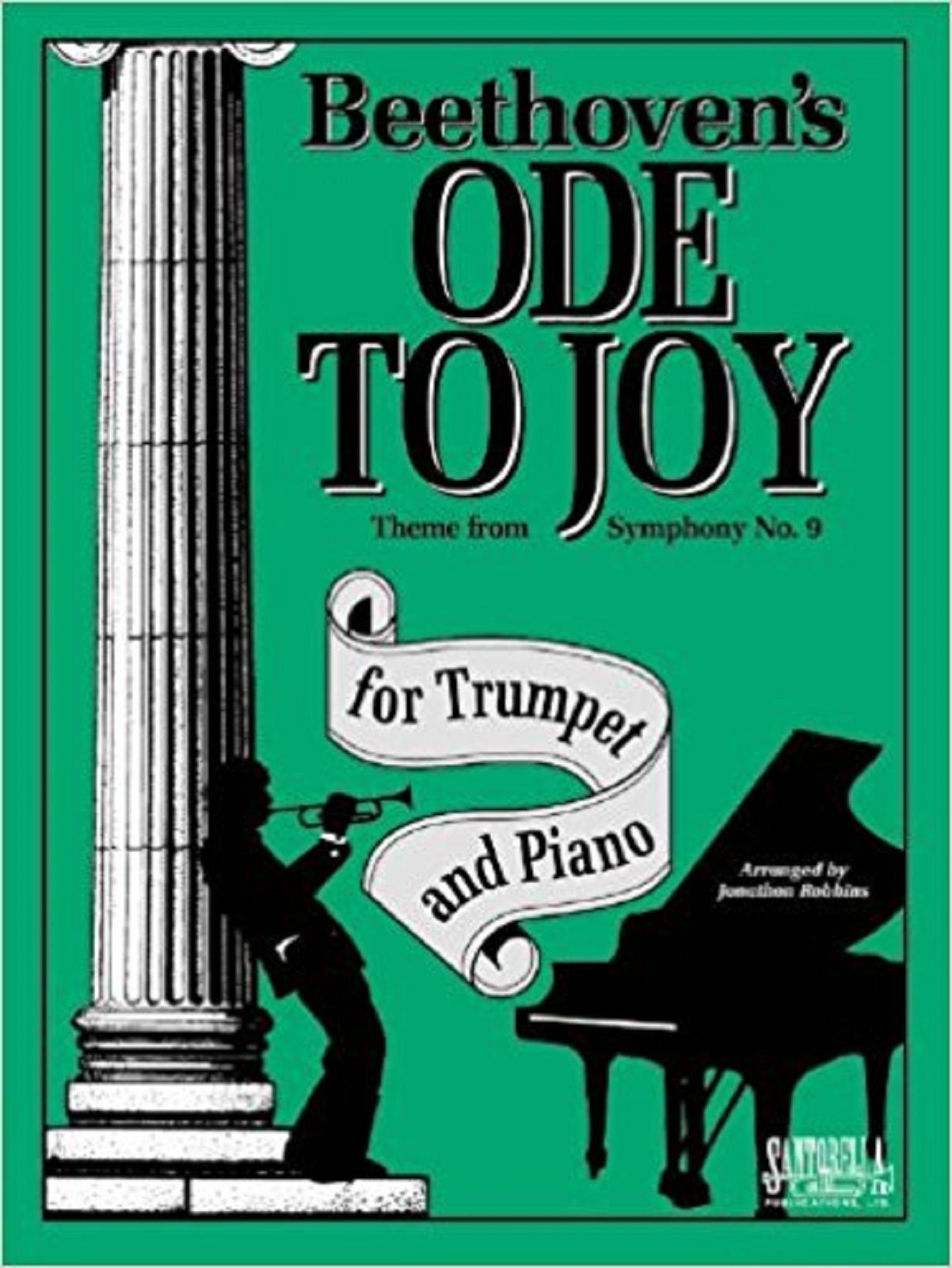 Beethoven's Ode To Joy Trumpet Piano Symphony No 9 Theme Sheet Music Book S167