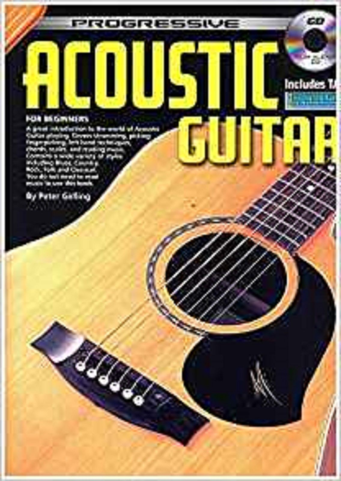 Progressive Acoustic Guitar For Beginners CD TAB Tutor Method Book Gelling S169