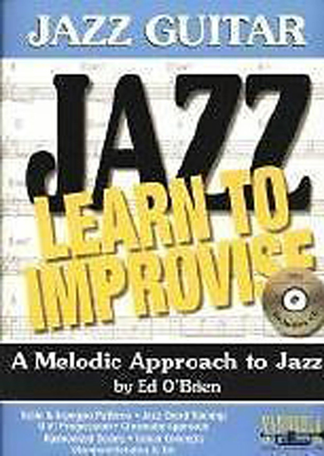 Jazz Guitar Learn To Improvise A Melodic Approach Ed O'Brien Book & CD B52