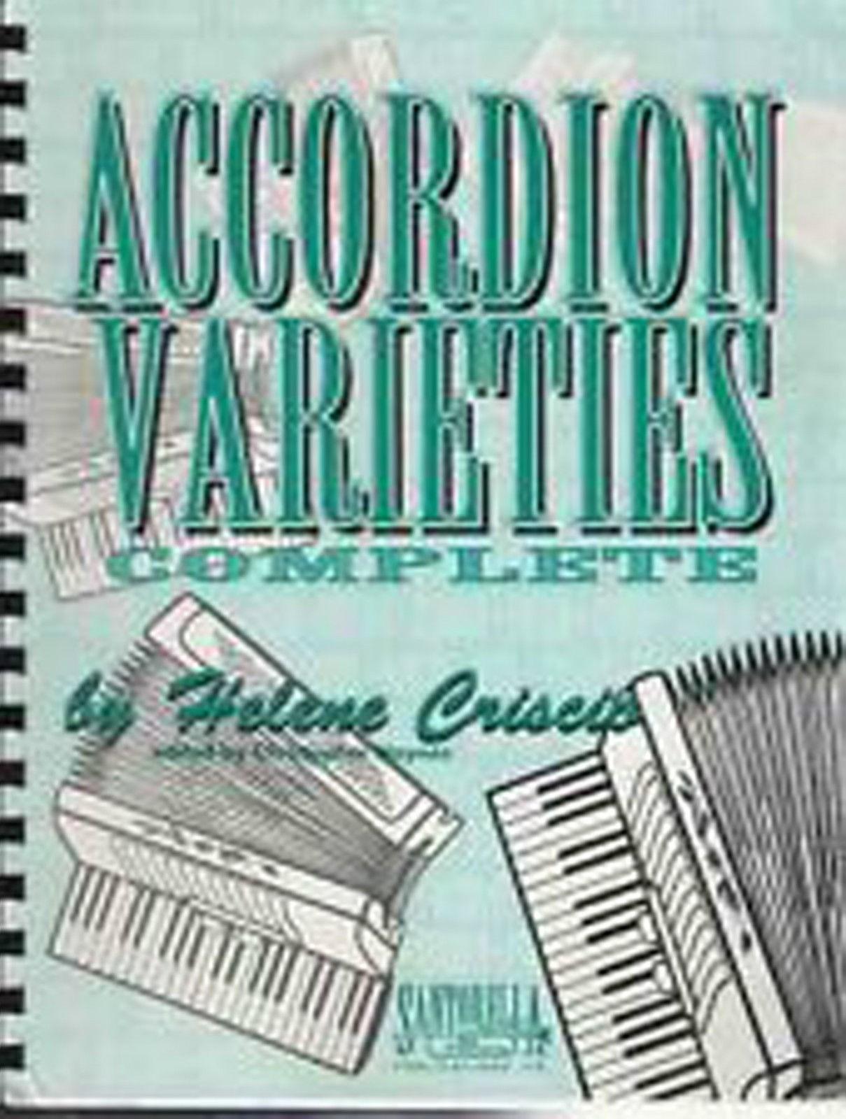 Accordion Varieties Complete Book Helene Criscio Alpine Polkas Waltz & Songs B52