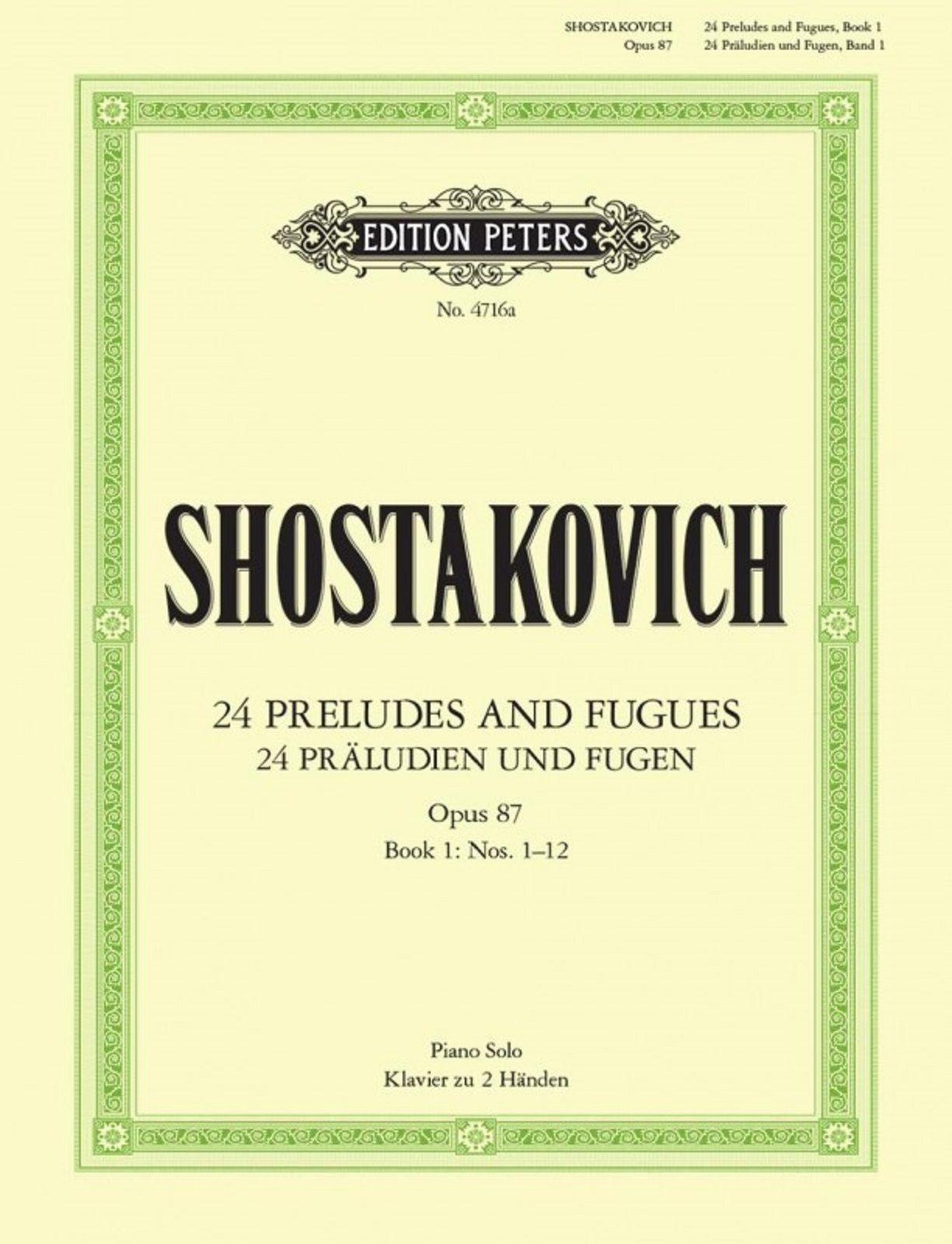 Shostakovich 24 Preludes & Fugues, Op.87 Sheet music