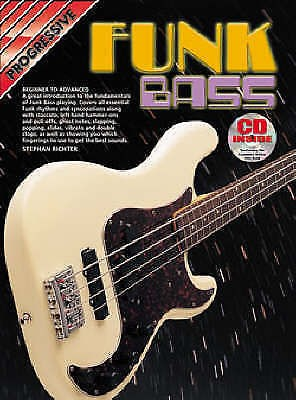 Progessive Funk Bass Book & CD Stephan Richter Tutor Method B45