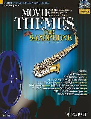 Movie Themes for Alto Saxophone Book & CD Schott Master Playalong Series B45