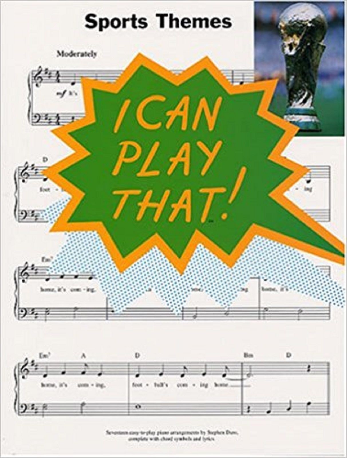 I Can Play That Sports Theme Book for Piano World Cup Wimbledon Rugby S148