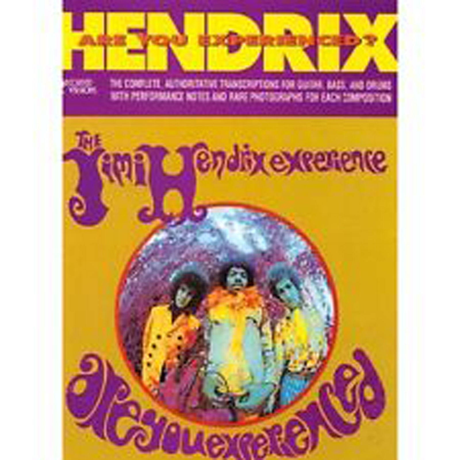 Jimi Hendrix Are You Experienced? Book Band Score Guitar TAB Bass & Drums B47