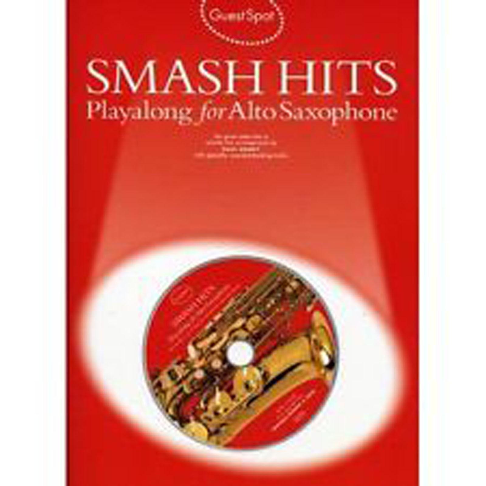 Guest Spot Smash Hits Playalong Alto Saxophone Book CD Easy Sheet Music B48
