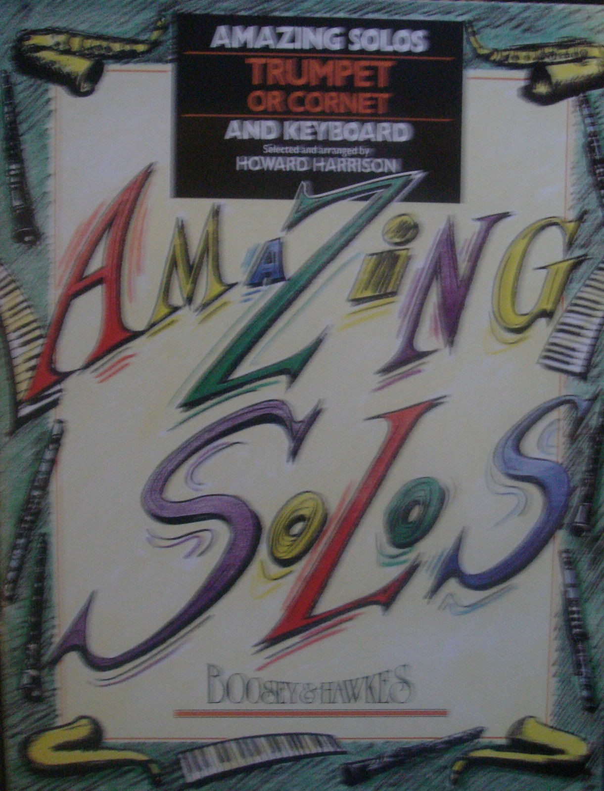 Amazing Solos Trumpet Piano Book Early Grades Bach Bernstein Harrison B86
