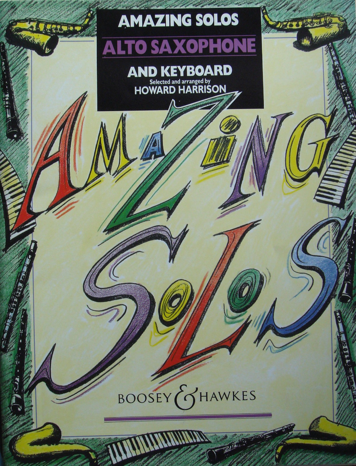 Amazing Solos Alto Saxophone & Keyboard Book Arr Howard Harrison B44