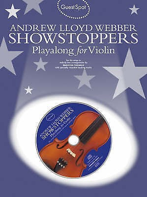Guest Spot Andrew Lloyd Webber Showstoppers Playalong Solo Violin Book CD B47