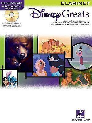 Disney Greats Clarinet Instrumental Play-Along Book CD Sheet Music B49
