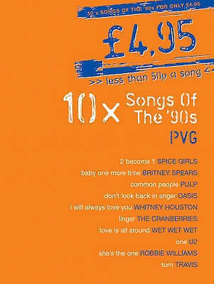 10 Songs Of The 90s Nineties Piano Voice Guitar Songbook Book B60 S109
