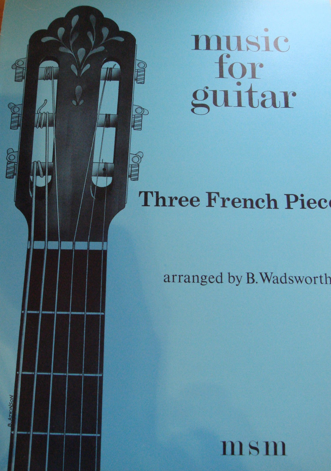 Music For Guitar Three French Pieces Wadsworth Classical Sheet Music Book S100