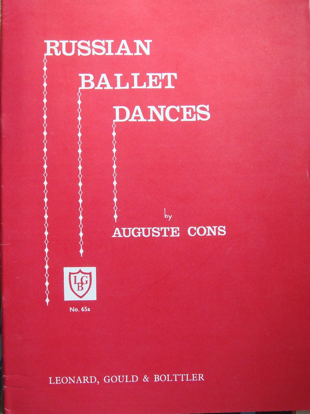 Auguste Cons Russian Ballet Dances Piano Suite Book B43