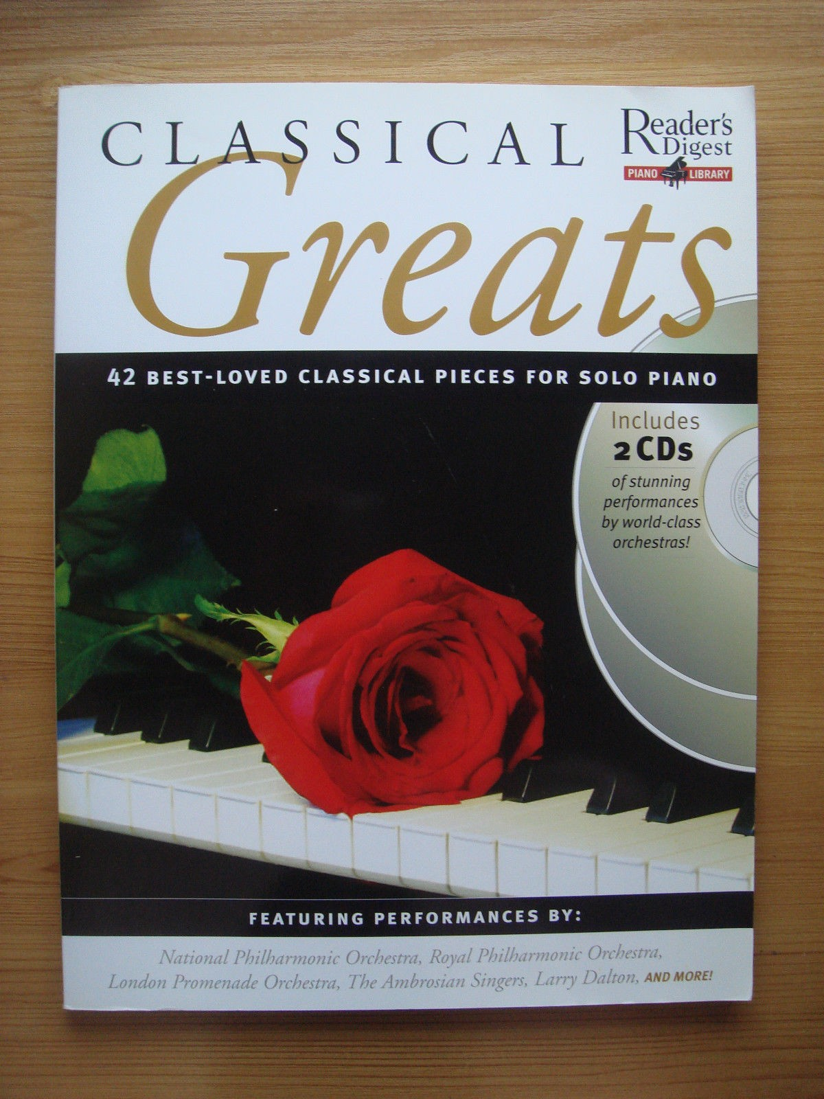 Readers Digest Piano Library Classical Greats Best Loved Pieces Book & CD B35