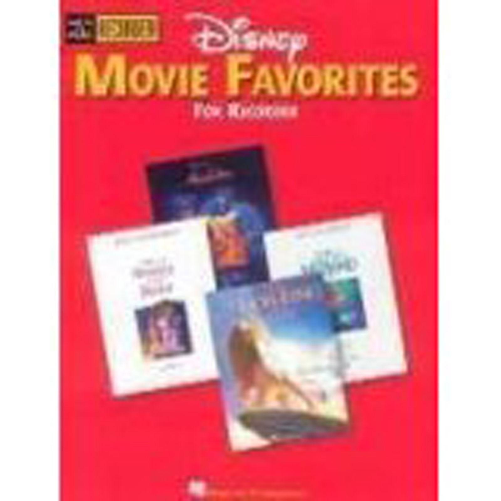 Disney Movie Favorites Recorder Book Descant Duets Hal Leonard B41