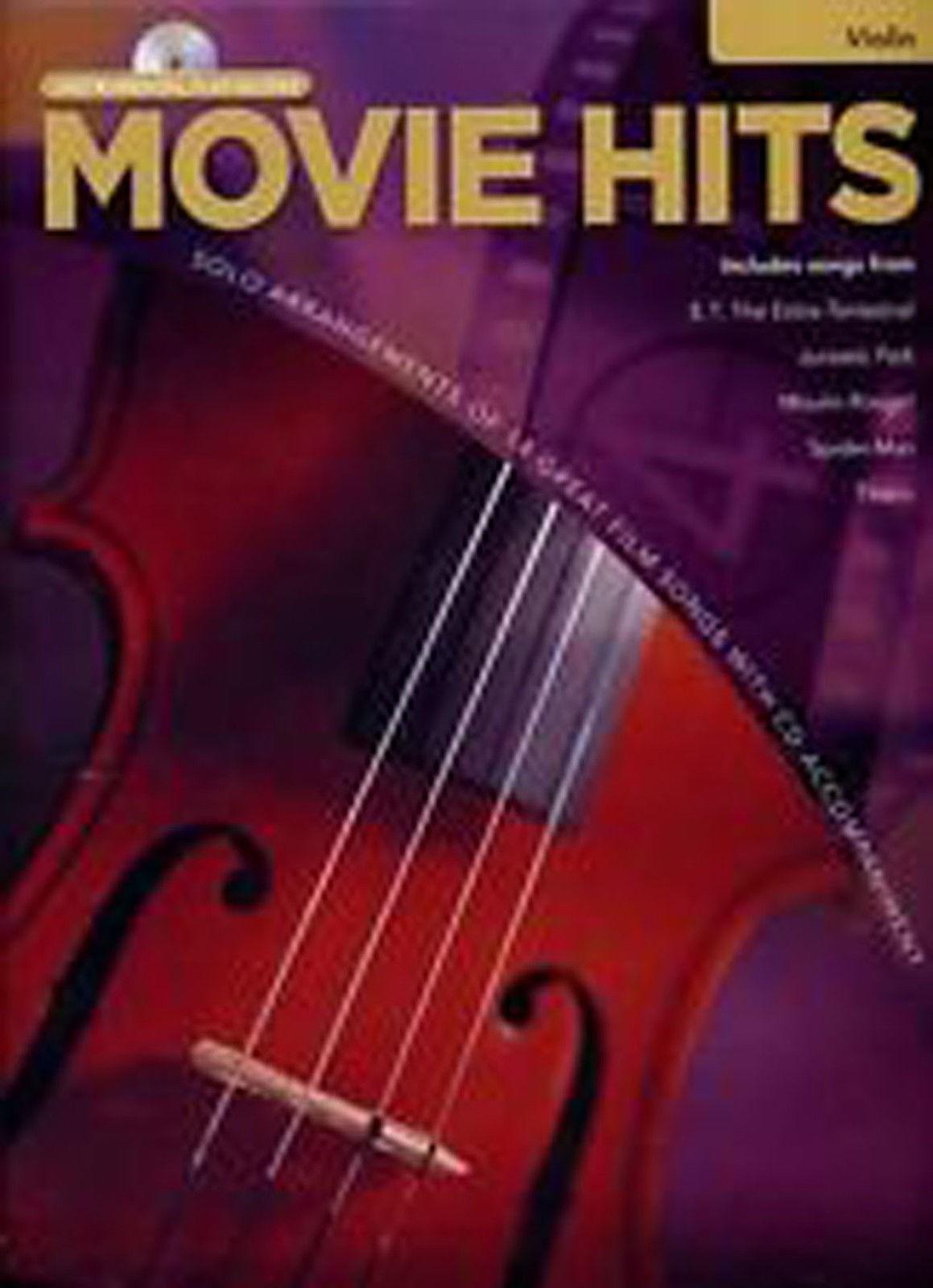 Movie Hits Instrumental Playalong Violin Book CD Sheet Music B62